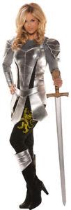Knight To Remember Adult Women Costume Metallic Underwraps Cuffs Guard Halloween