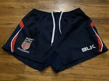 BLK USA Rugby Stitched Logo Rugby Shorts Blue Red Gray Size Large
