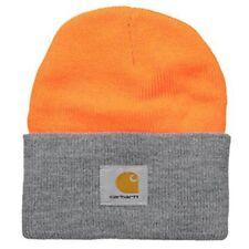 Carhartt Acrylic Watch Cap - Orange Grey A18 825 Mens Winter Beanie Ski Hat