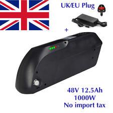 48V 12.5AH 1000W Black TIGER SHARK Li-oin Battery for Electric Bicycles E-Bike