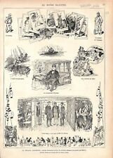 Frégate l'Incomprise Voyage autour du Monde Carré Dessin par Sahib GRAVURE 1877