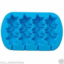 Wilton 4-Cavity Stacked Stars Silicone Mold, Blue US Seller