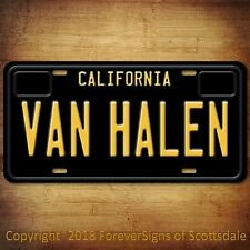 Van Halen Rock Band California Aluminum Vanity License Plate Black Tag New