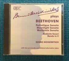 Beethoven Benno Moiseiwitsch Plays Beethoven Pathetique Moonlight Waldstein CD