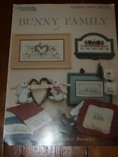 Leisure Arts Bunny Family Cross Stitch Leaflet 607 by Frankie Buckley