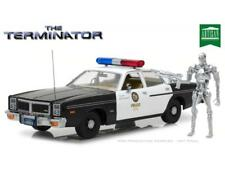 The Terminator Dodge Police Car with Endoskeleton 1:18 Scale Greenlight GL19042