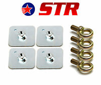 Racing Harness/Seat Belt Mounting Back Plate + eyebolt FIA Approved x 4 Pieces