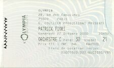 RARE / TICKET DE CONCERT LIVE - PATRICK FIORI A L' OLYMPIA DE PARIS - OCT. 2000