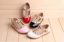 Baby Girls Kids Toddler Children Flat Leather Shoes Summer Princess Sapatos