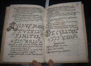 1763 Manoscritto Institutionem Iuris Civilis......Saverius Villanova, Puglia.
