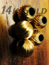 Genuine14k Gold Corrugated Bead 8mm Spacer Twist style Ball Finding