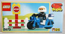 VERY RARE VINTAGE 1996 LEGO DUPLO 2673 MOTORCYCLE PATROL NEW MISB !