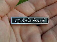 ~ MICHAEL CAR BADGE Chrome Metal Emblem To Personalise Your Car *NEW & UNIQUE!*