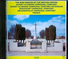 WAR GRAVES OF ACHIET LE GRAND + OTHERS FRANCE CD