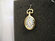COLIBRI  GOLDTONE MOTHER OF PEARL FACE   PENDANT WATCH  NEW  REDUCED