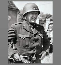 General Goerge S Patton PHOTO Led 7th, 3rd Army in France Nazi Germany US Army