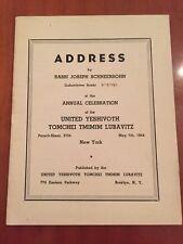 Antique Judaica Address booklet by Rabbi Yossef Schneersohn of Chabad Lubavitch