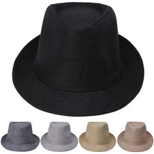 Adult Men Women Kid Children Trilby Cap Fedora Hats Sunhat Jazz Sunbonnet Panama