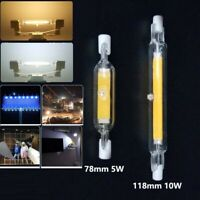 R7s LED COB Bulb Glass Ceramic Tube Light Lamp 5W 10W 78mm 118mm Replace Halogen