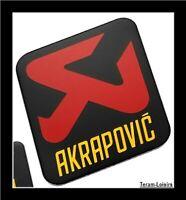 Plaque Aluminium Haute Température AKRAPOVIC pour Silencieux Auto Moto Quad NEUF