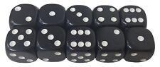 10 Würfel 18 mm schwarz Kunststoff - Würfelspiel Brettspiel Zaubertricks