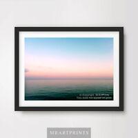 MORNING MIST SEA OCEAN Art Print Poster Horizon Picture Design A4 A3 A2 Photo