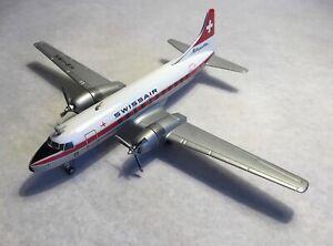 """Herpa Wings 1/200 Convair 440 """"Swissair Metropolitan"""" Made in Germany"""