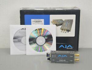 AJA FiDO-2R 2 Channel Dual Optical Fiber to SD HD 3G SDI Mini-Converter