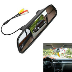 "New 4.3"" LCD Car SUV Rear View Mirror 2-way Input Monitor PAL/NTSC System DC 12V"