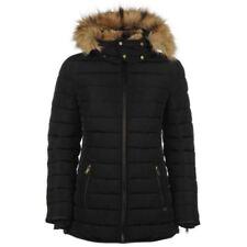 New Firetrap Luxury Bubble Jacket Ladies Fur Collar Warm Coat Size S (UK-10)