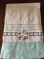 Antique/Vintage Tea/Hand Towel Linen Hand Embroidered