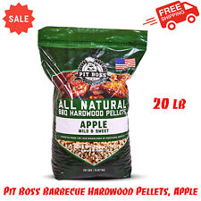 Pit Boss BBQ Hardwood Pellets, Apple, 20 lb, Outdoor Cooking, Grill Accessories