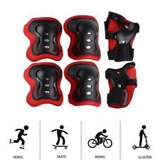 Kids Skiing Skating Riding Scooter Knee Elbow Wrist Protective Guard Gear Pad