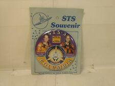 Vintage NASA 1982 STS Souvenir STS-3 Columbia Pinback Button Pin  t3417