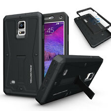 Samsung Galaxy Note 4 Hybrid Armor Hard Case built-in Screen/Kickstand+Headphone