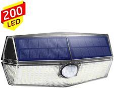 LITOM Lampe solaire 200 LED, grand angle de 270°, avec tête de capteur PIR