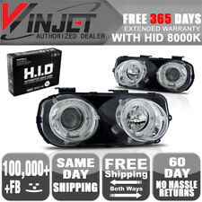 Fits 94-97 Integra Halo Projector Head Lights Lamps Chrome Clear + 8K Xenon HID