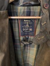 Barbour Beacon Dept B Commander. SKYFALL James Bond 007 Olive Wax Jacket Size XL