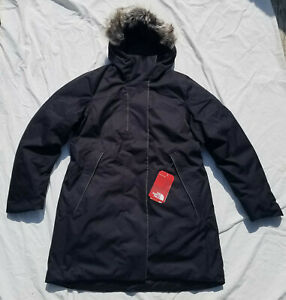 The North Face Far Northern Waterproof Down Parka Jacket Black Women's XL NWT