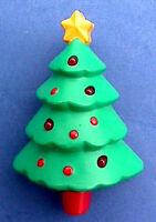 Hallmark PIN Christmas Vintage TREE Gold Star Holiday Brooch AS IS