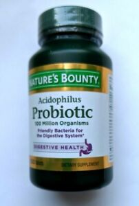 NATURE'S BOUNTY-ACIDOPHILUS PROBIOTIC-100tabs. For Digestive System.