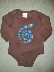 HANNA ANDERSSON Brown Long Sleeve Snake Top Size 70 (3-6 Months)