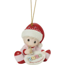 PRECIOUS MOMENTS Dated 2020 Ornament Baby's 1st Christmas GIRL 201005 NEW