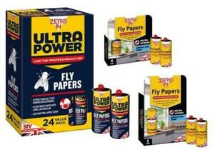 Zero in Fly Papers Baited with Insect Attractant Indoor & Outdoor Killer