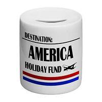 Destination America Holiday Fund Novelty Ceramic Money Box