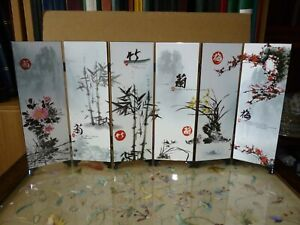 Beautiful Chinese ornamental 6 section screen decorated with Flowers