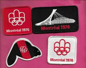 4 X RARE VINTAGE 1976 MONTREAL SUMMER OLYMPICS PATCH (INV# D1663)