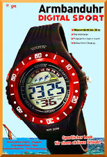 DIGITAL SPORT by Atlas For Men LCD Outdoor Armbanduhr Wasserdicht