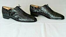RARE $1600+ AVVENTURA Genuine Crocodile Alligator Oxford Boots Loafers Shoes 12