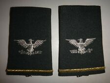 Pair Of US Army COLONEL Small Slip-On Epaulets Shoulder Badges